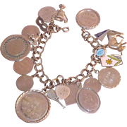 Loaded Automade Sterling Silver Charm Bracelet With All Sterling Silver Charms