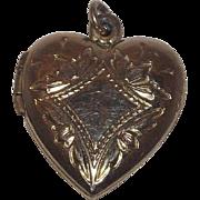 Sweet Gold Filled Heart Locket 12 kt gold Filled