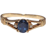 14 Kt Yellow Gold And Sapphire Ring