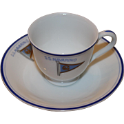 Vintage Maritime Cup And Saucer From The SS Navarino