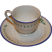 Vintage Maritime Cup And Saucer From The M/S Butterfly - Liberian Registry