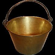 Antique H W Hayden Spun Brass Bucket or Pail