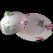 SALE Vintage Paragon English Art Deco Lidded Soup Bowl