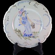Vintage Limoges Haviland & Co.  Original Artist Signed Plate