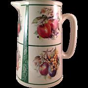 Vintage Crown B Burslem Art Pottery Pitcher England