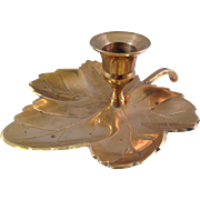 Solid Brass Made in India Leaf Candle Holder