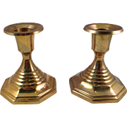 SOLD Vintage Solid Brass Candle Stick Holders made in India