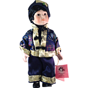 """Retired Traditions Doll Collection """"Tao"""" Porcelain Boy Doll"""