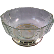 Vintage Made in Italy Crystal and Silverplate Bowl
