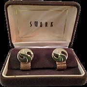 Vintage Swank Mesh Chain Cufflinks
