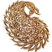 Vintage Trifari Cast Filigree Brooch