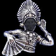 Vintage PAM Thai Dancer Brooch