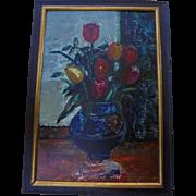 SALE Sasha Moldovan (Russian / American (1901-1982) Original Still Life Oil Painting