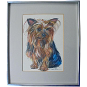 SALE Original Yorkshire Terrier Dog Painting by Renowned Artist G Marlo Allen
