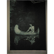 "SALE George De Forest Brush ""The Silence Broken"" Rare Photogravure Early 20th Cent"