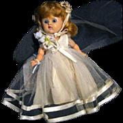 SALE Vogue Vintage Ginny Bride Doll Circa 1952 Walker Painted Lash Hard Plastic