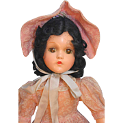 SALE Madame Alexander Scarlett  Composition Doll in Beautiful Replaced Outfit in Very Good ...