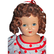 """Shirley Temple Doll Composition Look a Like 19"""" from 1930's Unmarked"""
