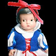 Patsyette doll in vinyl as Snow White by Effanbee, original in box
