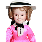 "SALE Shirley Temple doll porcelain 14"" Danbury Mint Little Colonel, very good condition,"