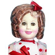 """Shirley Temple doll in vinyl 16"""" tall by CBS by Ideal 1984"""