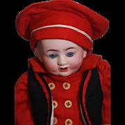 "Franz Schmidt German bisque Baby Boy 10"", Marked 'Germany, F.S. & Co., 1255/25, Z ..."