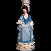 SALE German porcelain lady figure lamp