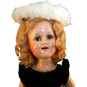 "Sonja Henie 18"" composition doll by Madame Alexander from 1939-1942 in very good conditio"