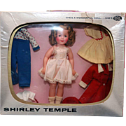 "Shirley Temple TV Wardrobe Package of 12"" Shirley Temple in vinyl with  television set bo"