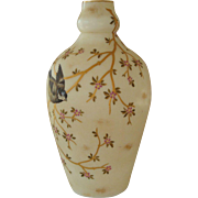 Enamel Decorated Vase with Hand Painted Bird