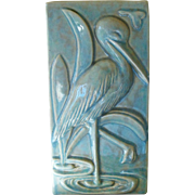 Gonder Pottery Crane Pillow Vase