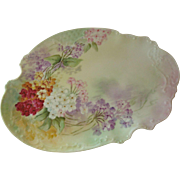 Circa 1890-1908 P.H. Leonard  Hand Painted Serving Platter