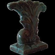 Gonder Pottery Drip Glaze Cornucopia Vase