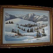 "Bruce Haughey Original Watercolor ""Silence of the North"" circa 1977"
