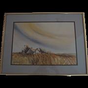 """Eloise Delaval Original Watercolor """"Season's End"""""""