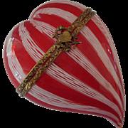 Murano Glass Hinged Heart Shaped Box