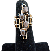 Architecture class. 14k Gold and Black Star Sapphire Ring