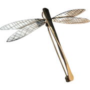 Winging it – 14k Gold and Sterling Dragonfly Pendant/Pin