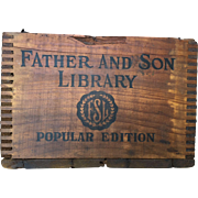 Father And Son Library Book Crate