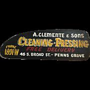 Vintage Dry Cleaner Sign Penns Grove NJ