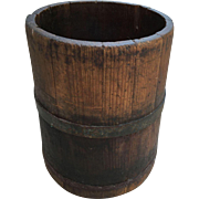 Early Antique Wooden Dry Measure Bucket 1800s