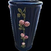 REDUCED Vintage 1930s Weller Pottery Vase Blue Drapery