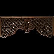 Antique Oak Victorian Fretwork Music Harp Gingerbread