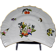 HEREND FRUITS & FLOWERS Crescent Salad/Side Plate 1530-BFR Motif #12