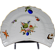 HEREND FRUITS & FLOWERS Crescent Salad/Side Plate 1530-BFR Motif #8