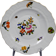 HEREND FRUITS & FLOWERS Salad Plate 1518-BFR Motif #7