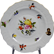 HEREND FRUITS & FLOWERS Salad Plate 1518-BFR Motif #4