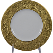 ROSENTHAL Bjorn Wiinblad MAGIC FLUTE SARASTRO (Gold) Salad / B&B Plate