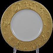 ROSENTHAL Bjorn Wiinblad MAGIC FLUTE SARASTRO (Gold) Luncheon/Salad Plate