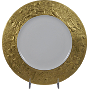 ROSENTHAL Bjorn Wiinblad MAGIC FLUTE Sarastro (Gold) Large Dinner Plate